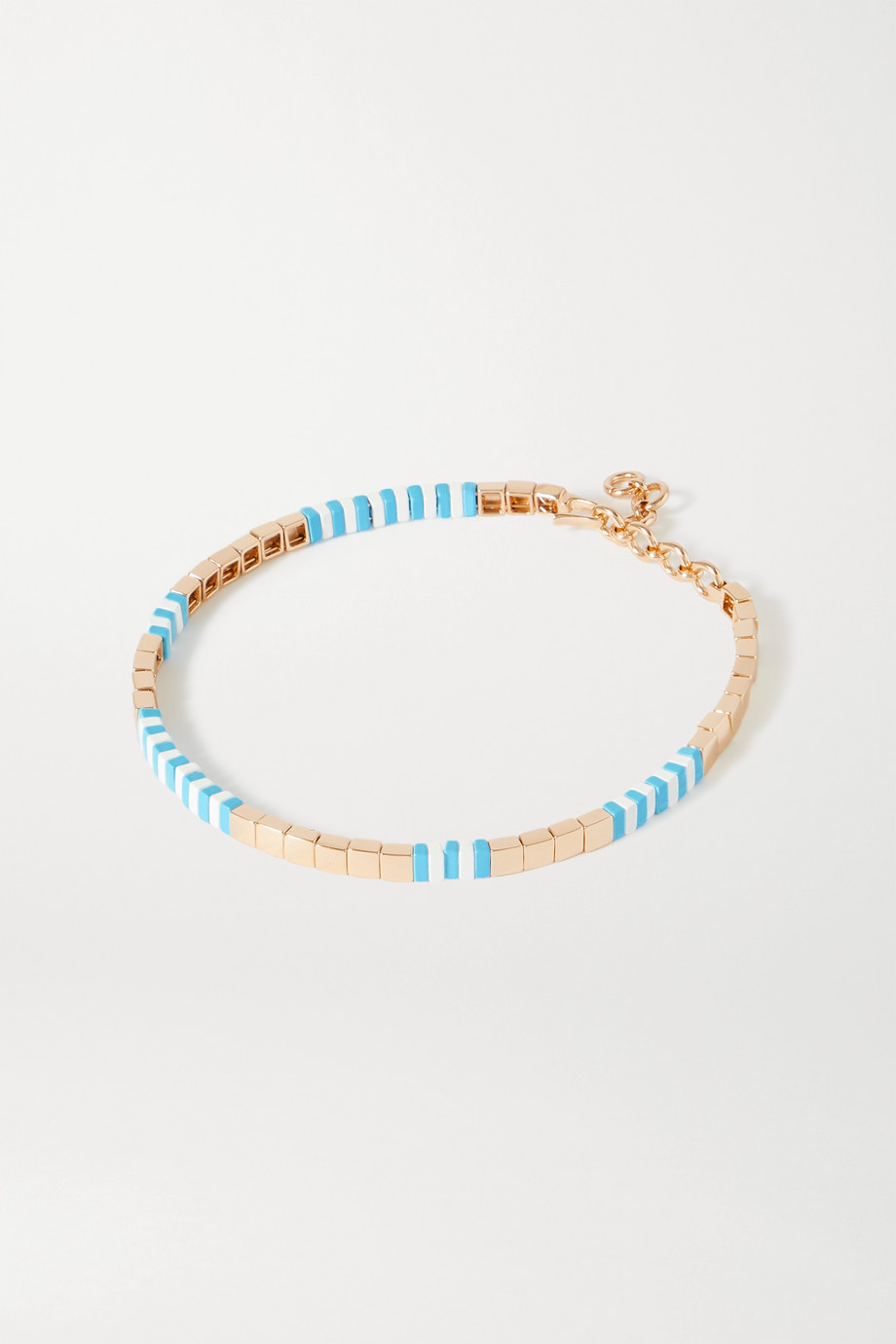 Roxanne Assoulin Pool enamel and gold-tone necklace