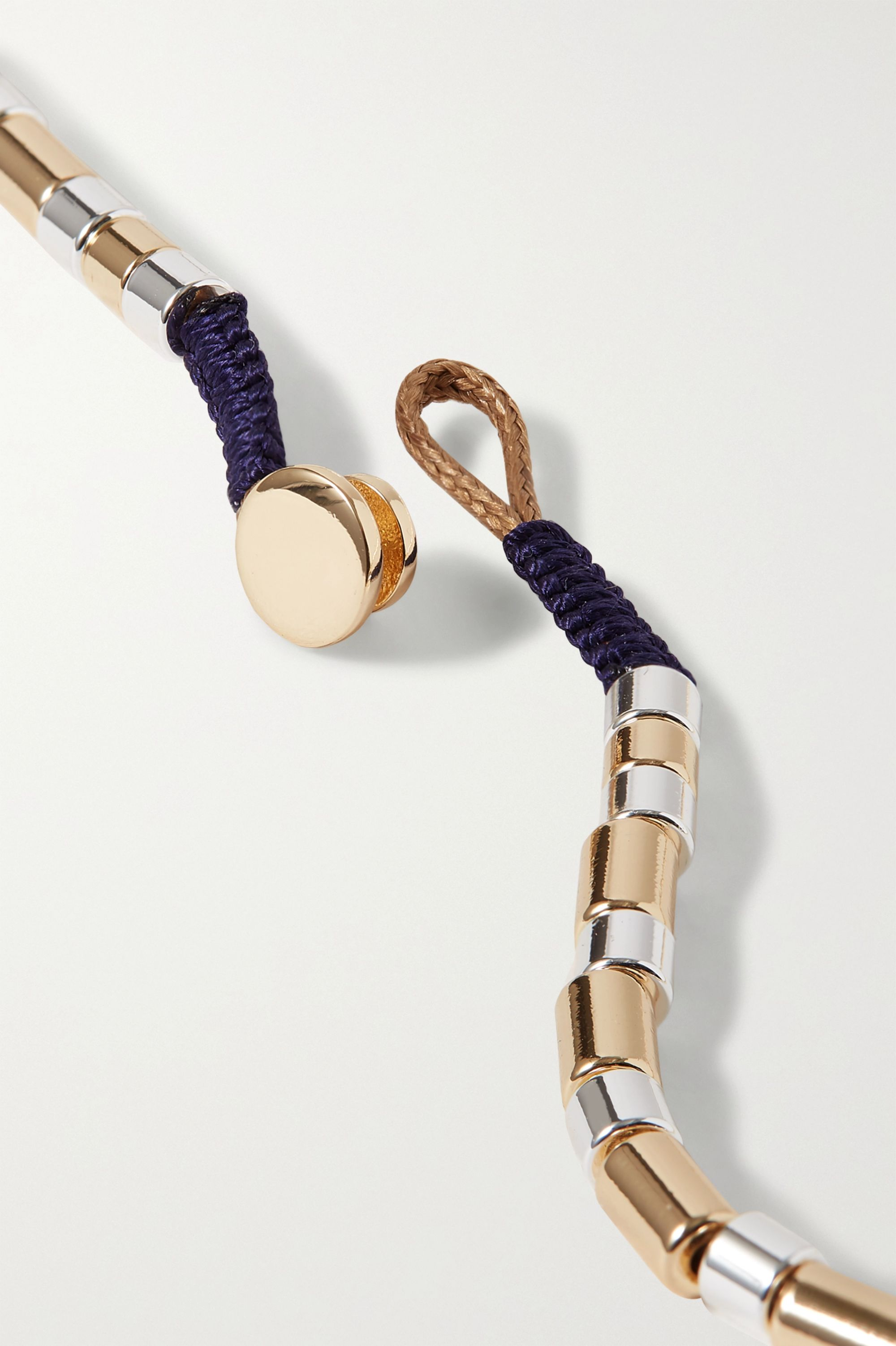 Roxanne Assoulin Higher Standard U-Tube gold and silver-tone necklace
