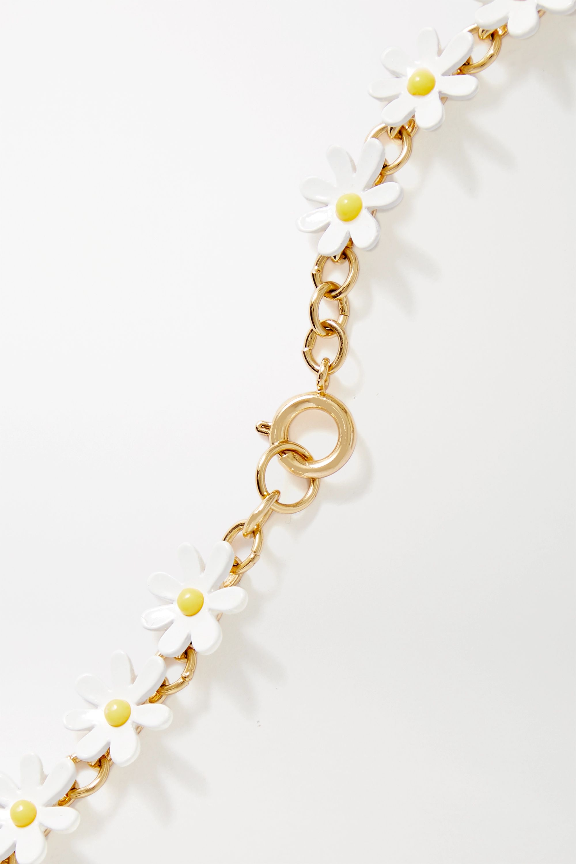 Roxanne Assoulin Everything's Coming Up Daisies gold-tone and enamel necklace