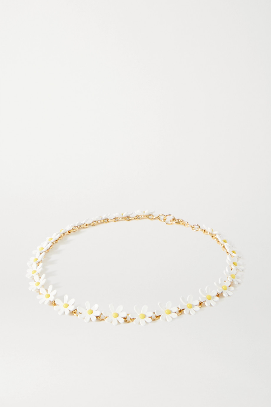 Roxanne Assoulin Everything's Coming Up Daisies goldfarbene Kette mit Emaille