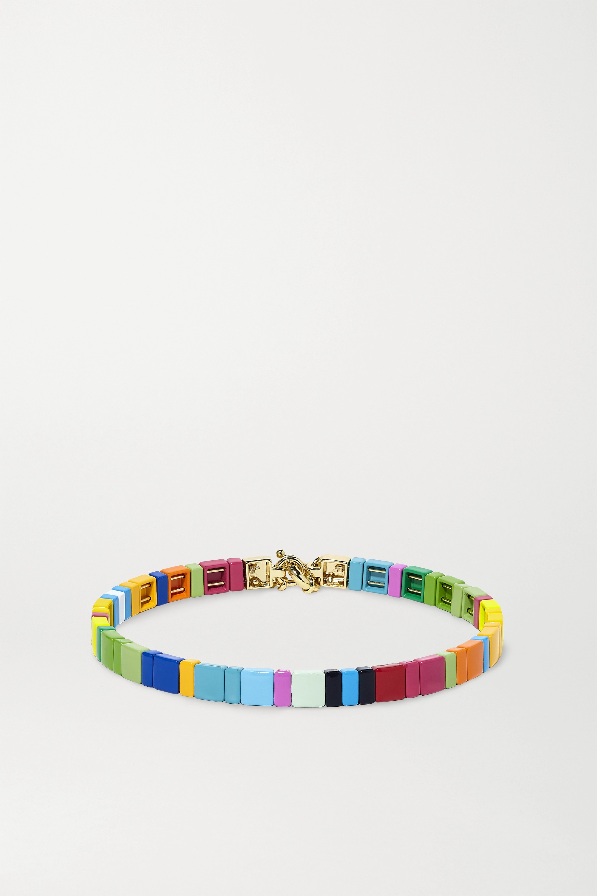 Roxanne Assoulin Starburst enamel and gold-tone choker