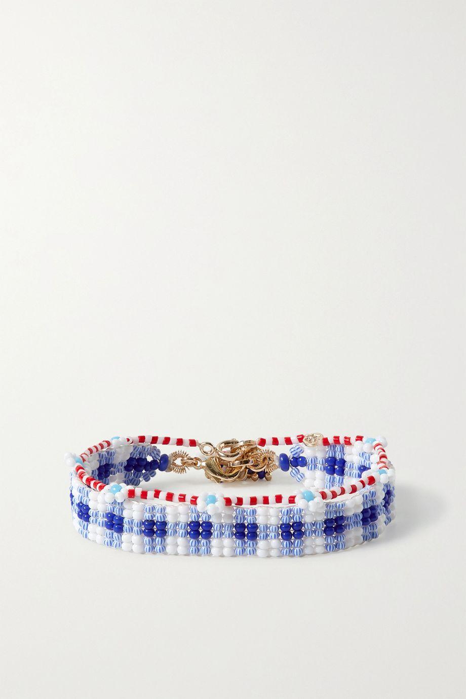 Roxanne Assoulin Set de deux bracelets en perles Gingham et Daisy