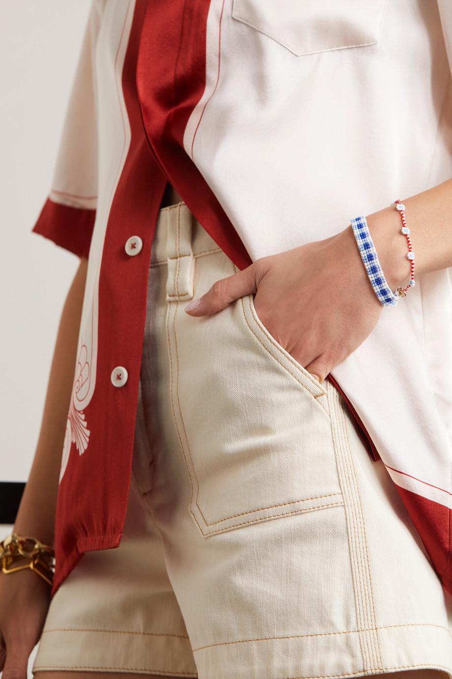 Roxanne Assoulin Gingham & Daisy Set aus zwei Armbändern aus Zierperlen