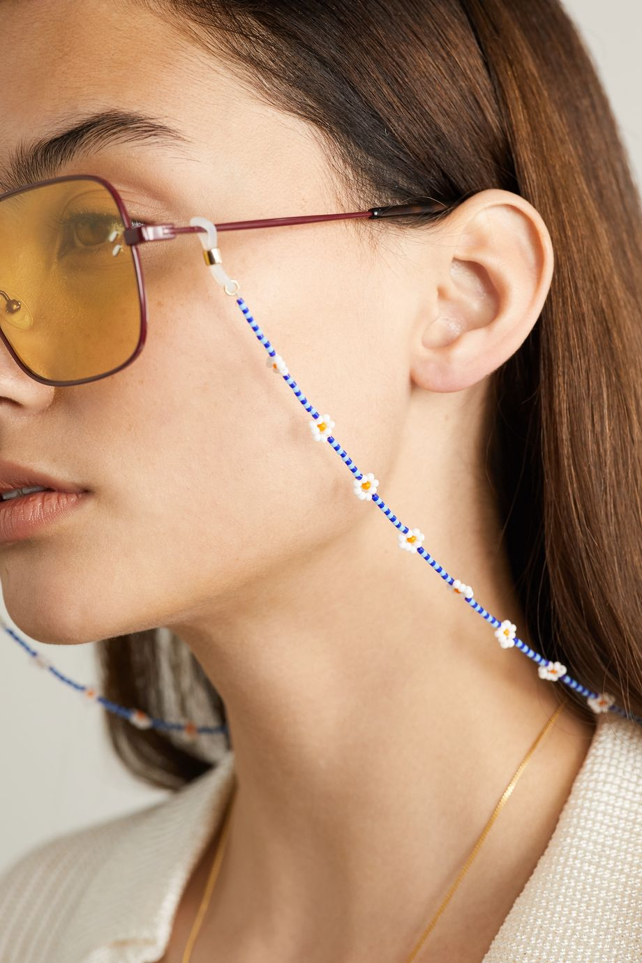 Roxanne Assoulin Daisy beaded sunglasses chain