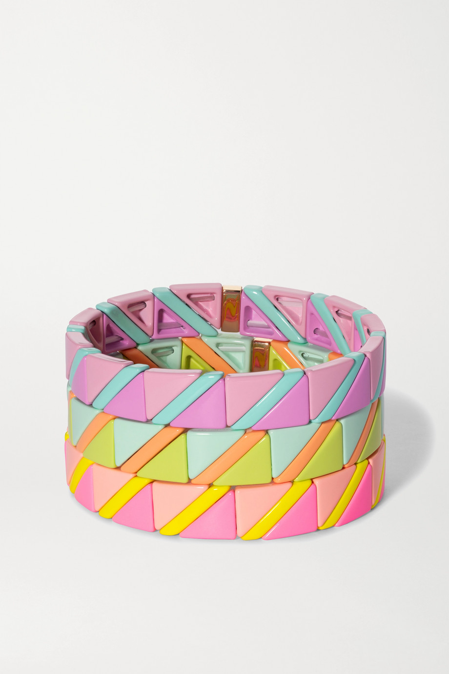 Roxanne Assoulin Delicate Neon set of three enamel bracelets