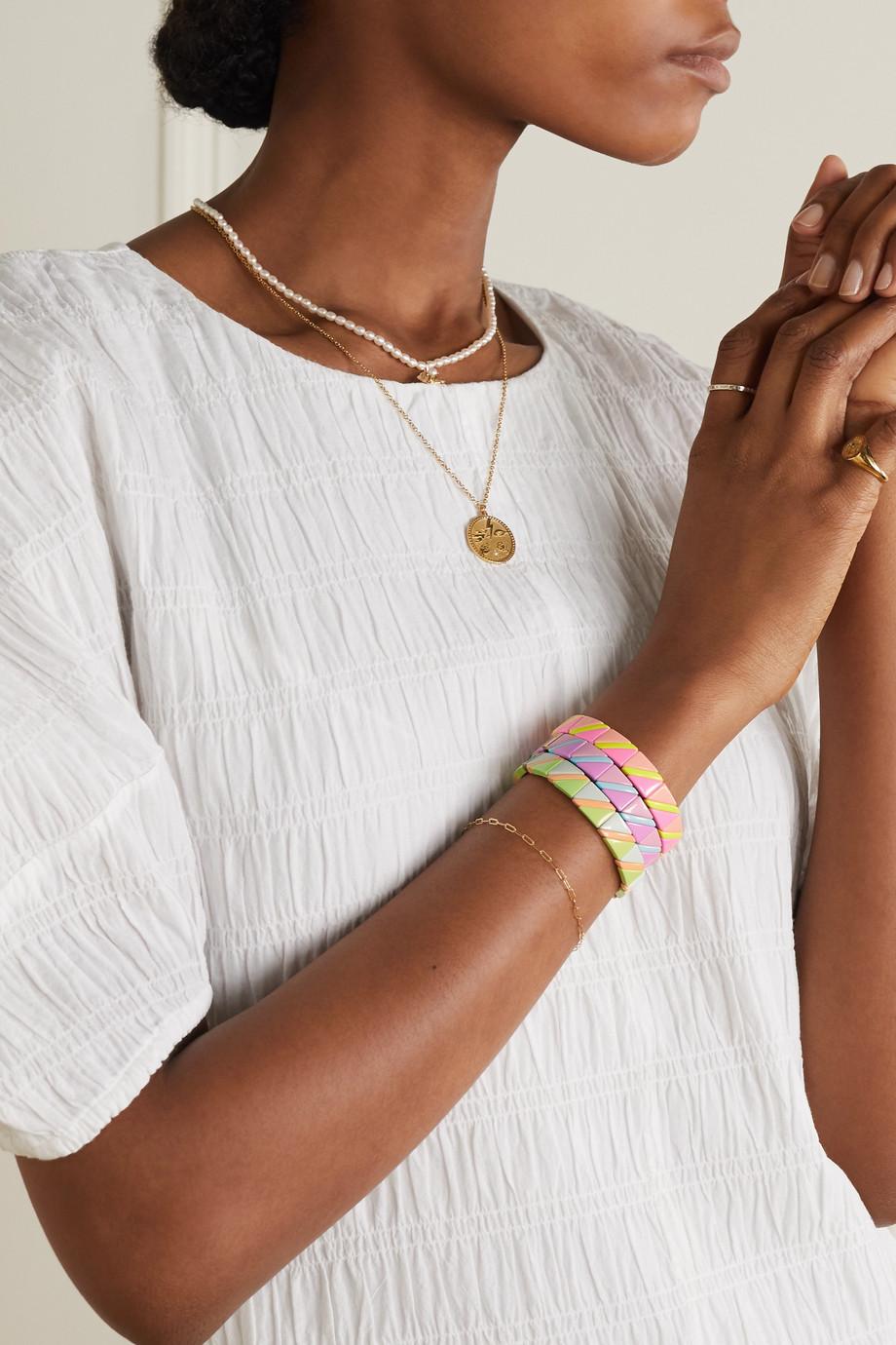 Roxanne Assoulin Delicate Neon Set aus drei Armbändern mit Emaille
