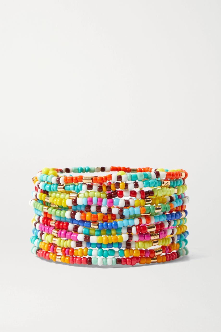 Roxanne Assoulin New Patchwork set of 12 beaded bracelets