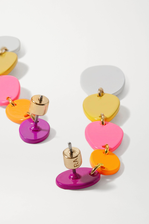 Roxanne Assoulin Boucles d'oreilles en émail et métal doré Pop Drop