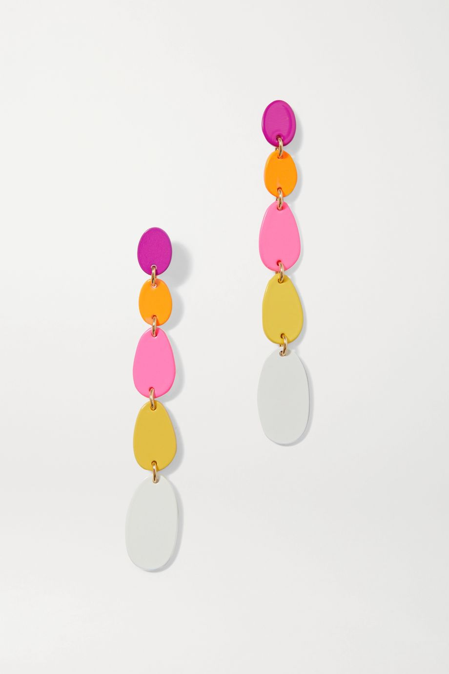 Roxanne Assoulin Pop Drop enamel and gold-tone earrings