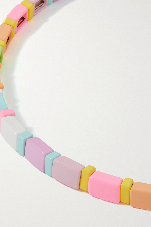 Roxanne Assoulin Neon Lite goldfarbene Kette mit Emaille