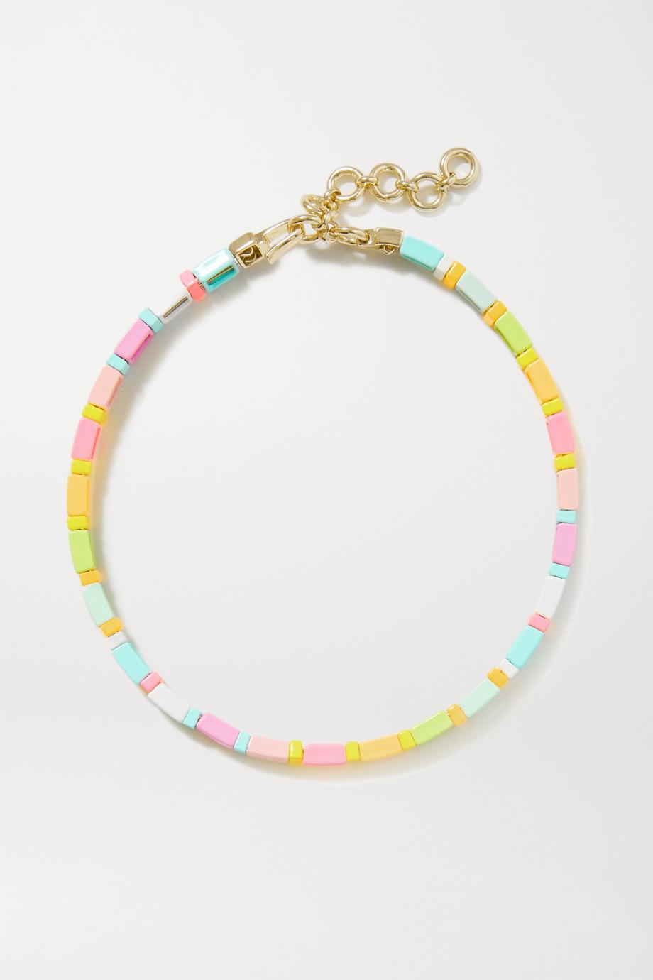 Roxanne Assoulin Neon Lite enamel and gold-tone choker