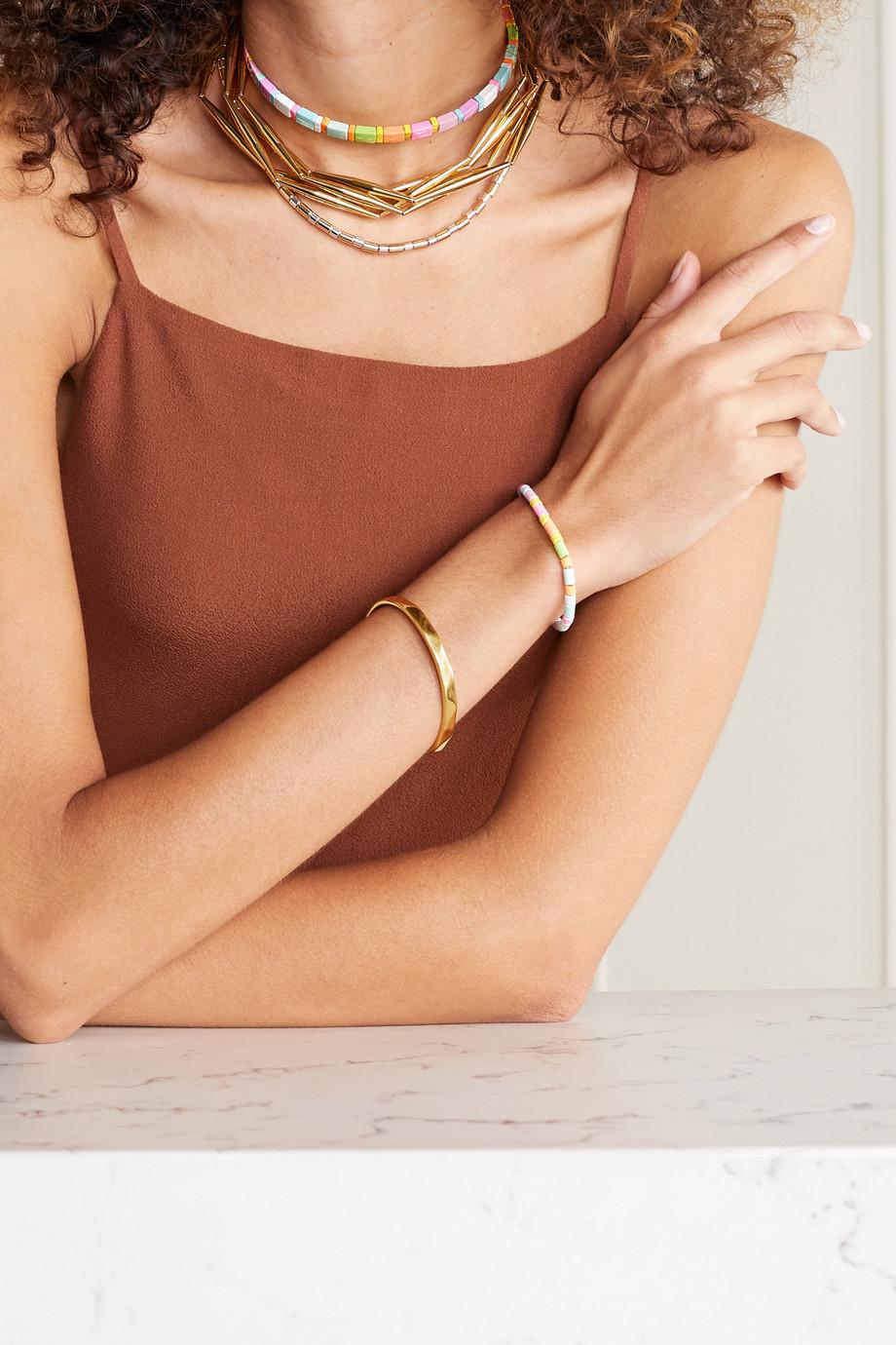 Roxanne Assoulin Tour de cou en émail et métal doré Neon Lite