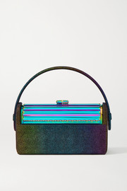 Bienen-Davis Régine metallic suede and iridescent brass tote