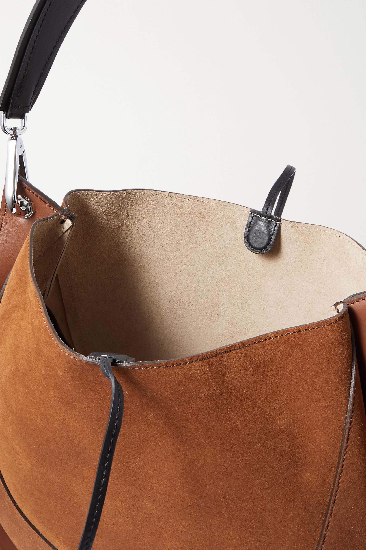 Proenza Schouler Arch große Schultertasche aus Veloursleder und Leder