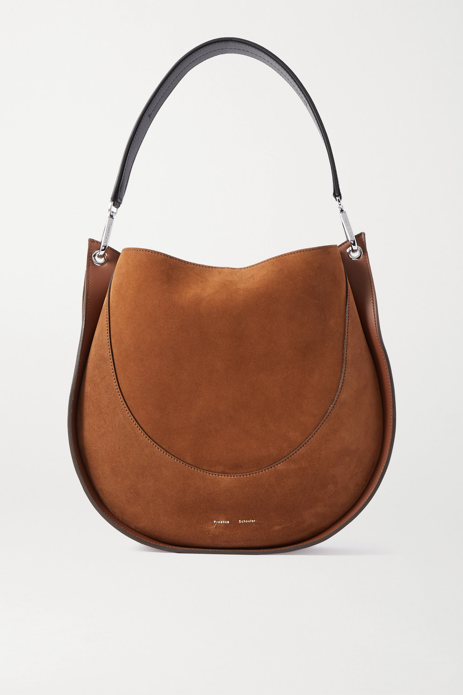 Proenza Schouler Arch large suede and leather shoulder bag