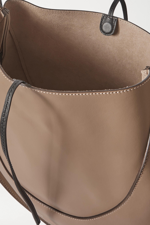 Proenza Schouler Arch große, zweifarbige Schultertasche aus Leder