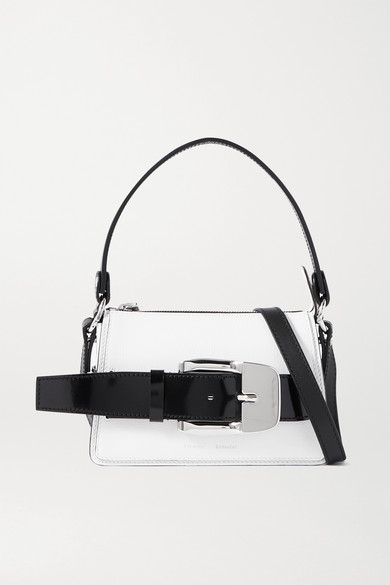 Proenza Schouler - Buckle Small Patent-trimmed Textured-leather Shoulder Bag