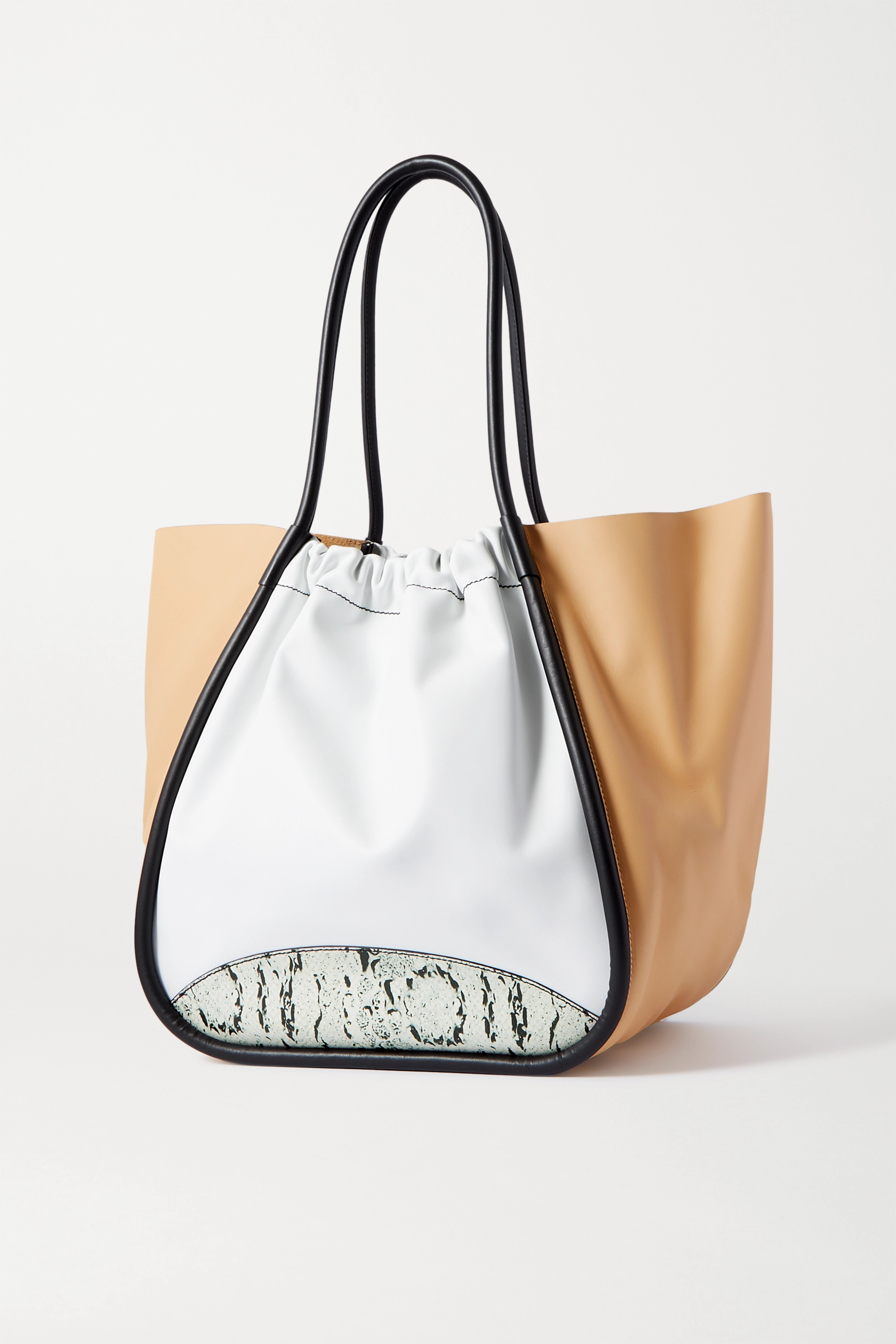 Proenza Schouler XL ruched paneled leather tote