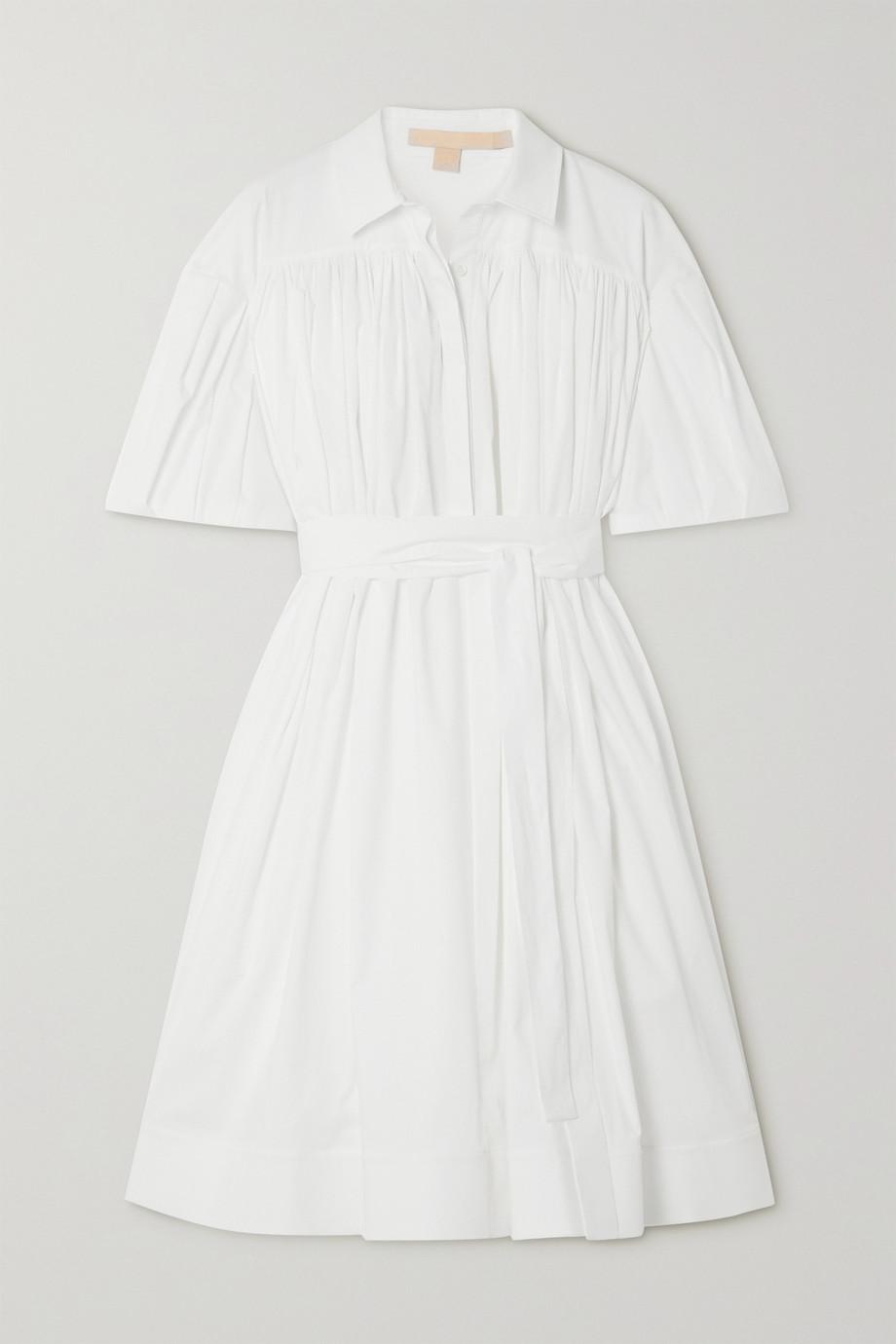 Brock Collection Kleid aus Popeline aus einer Baumwollmischung mit Bindegürtel
