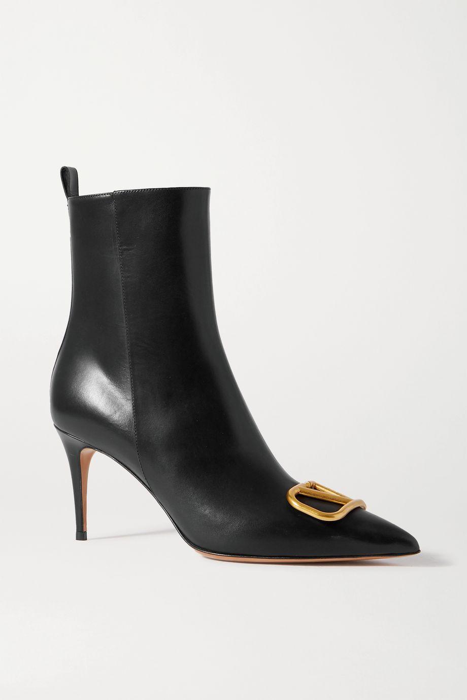 Valentino Valentino Garavani VLOGO 80 leather ankle boots