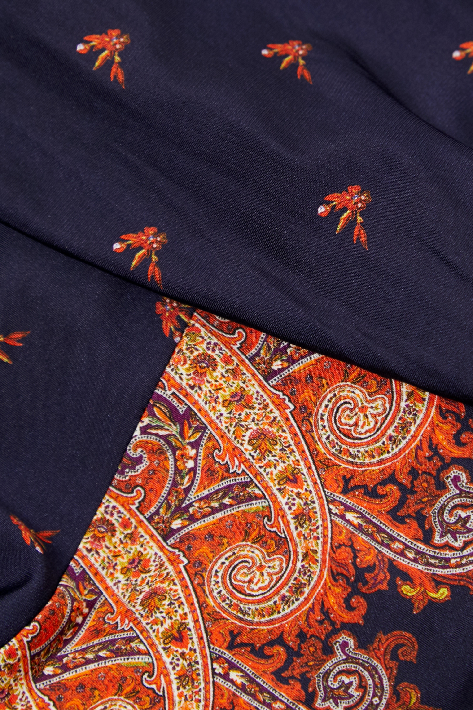 Paco Rabanne Asymmetric wrap-effect printed stretch-jersey midi dress