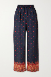 Paco Rabanne Printed stretch-jersey straight-leg pants