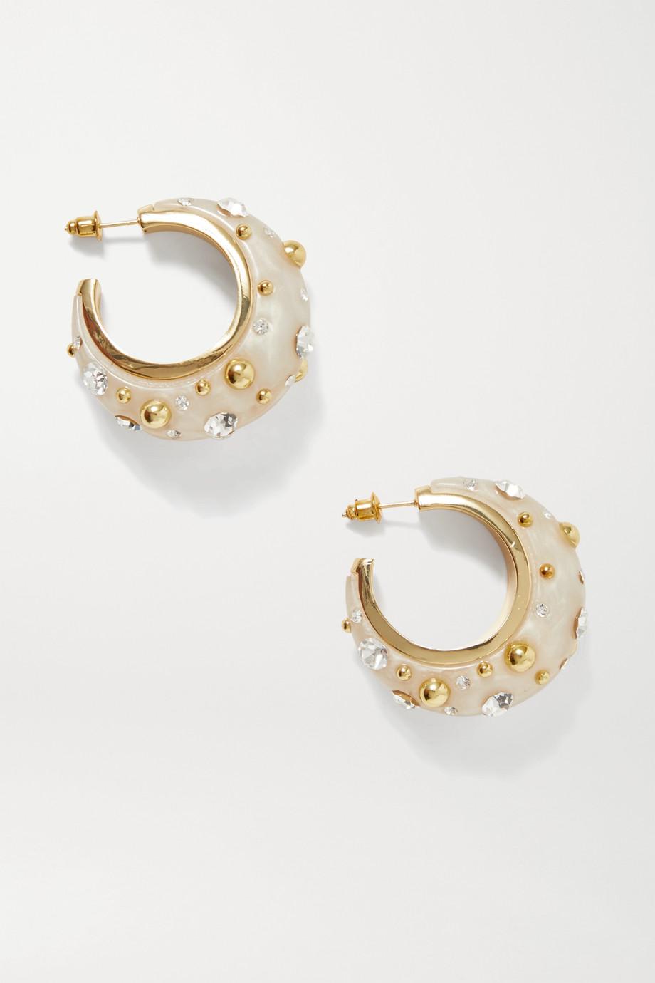Cult Gaia Boucles d'oreilles en métal doré, acrylique et cristaux Mona