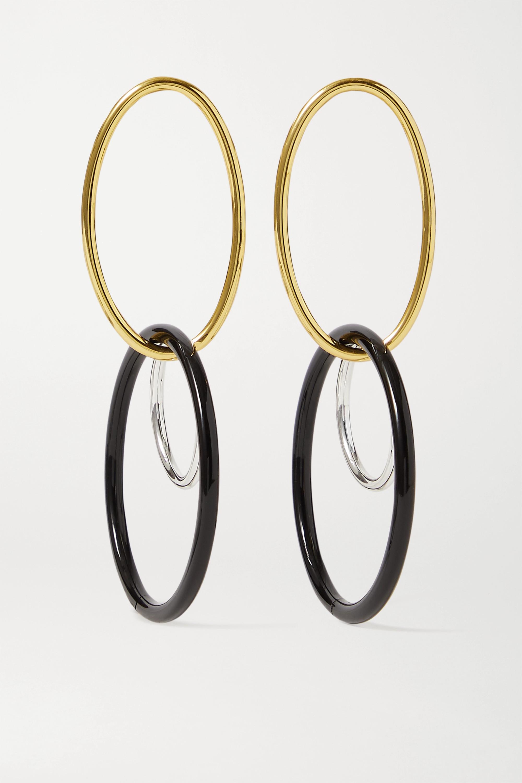 Cult Gaia Tria gold and silver-tone acrylic earrings