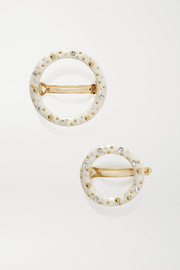 Cult Gaia Ria set of two embellished acrylic hair clips