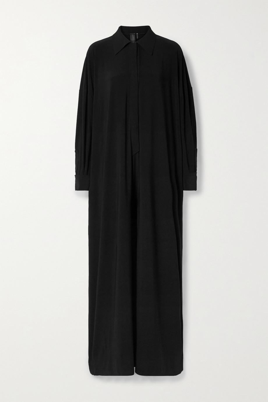 Norma Kamali 弹力平纹布连身裤