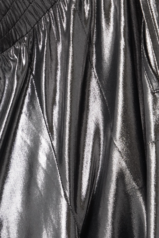 Vert-de-gris Pantalon De Survêtement En Jersey Stretch Métallisé | Norma Kamali
