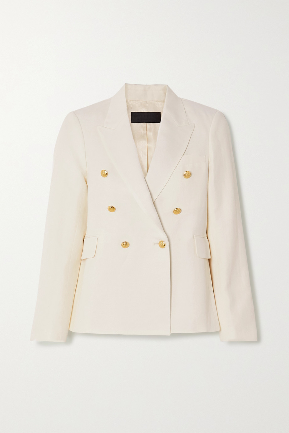Nili Lotan Henry double-breasted linen and silk-blend blazer