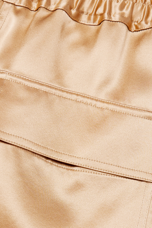 Nili Lotan Pantalon de survêtement en satin de soie Safi