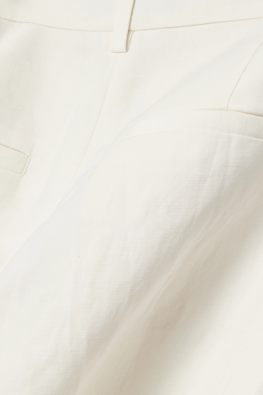 Nili Lotan Pantalon droit en lin et soie mélangés Atwater
