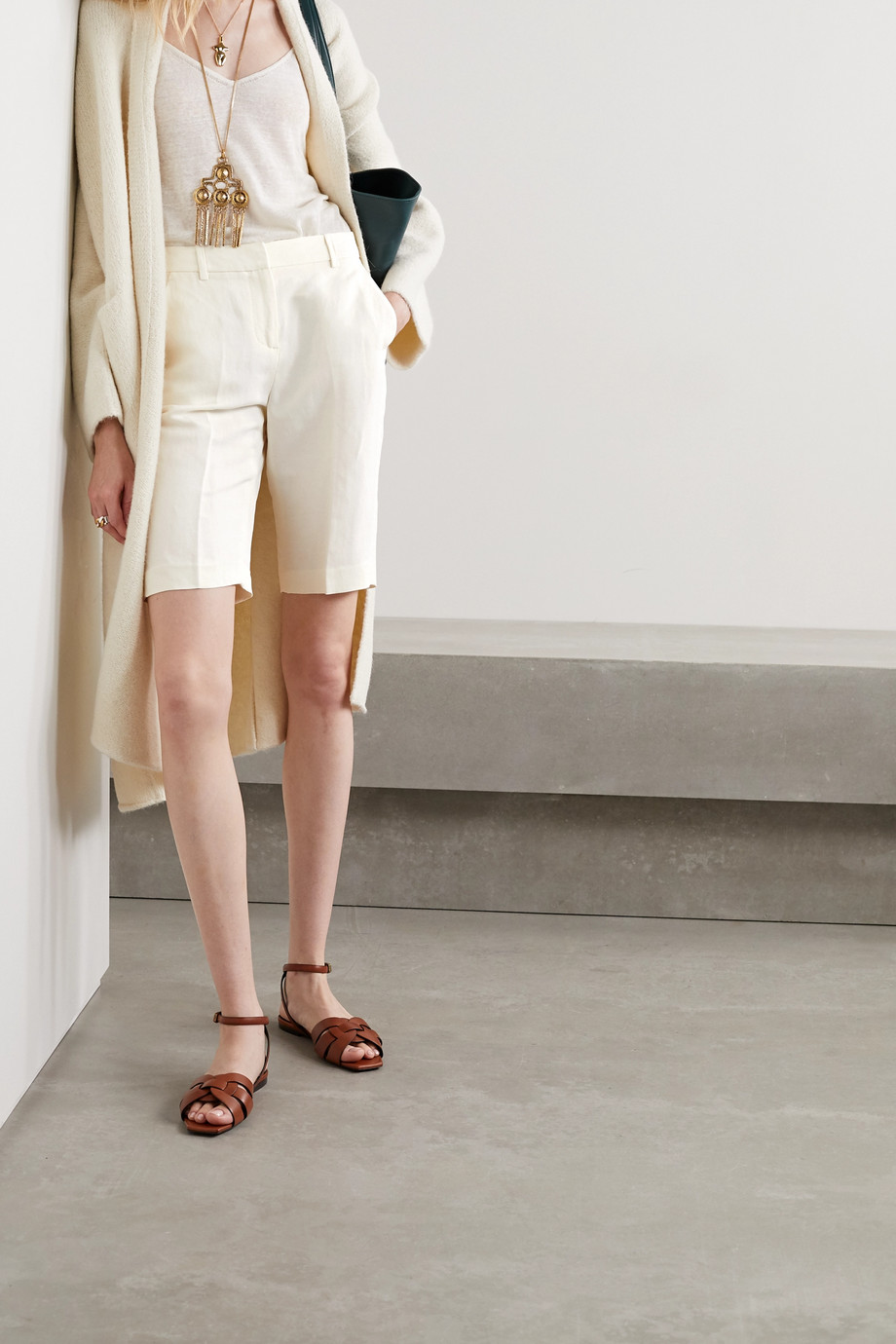 Nili Lotan Montreal linen and silk-blend shorts