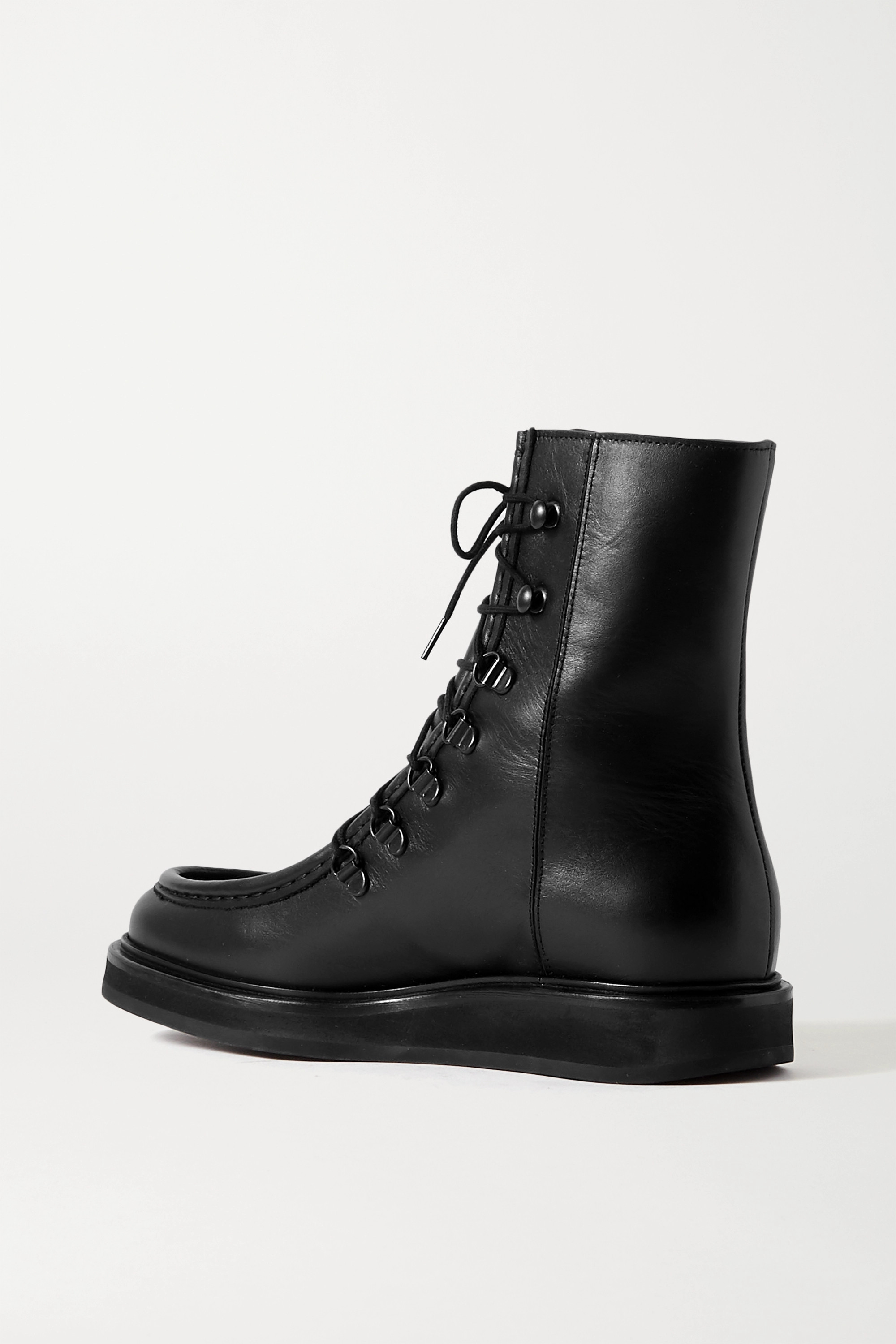 Black 16 Leather Ankle Boots | Legres
