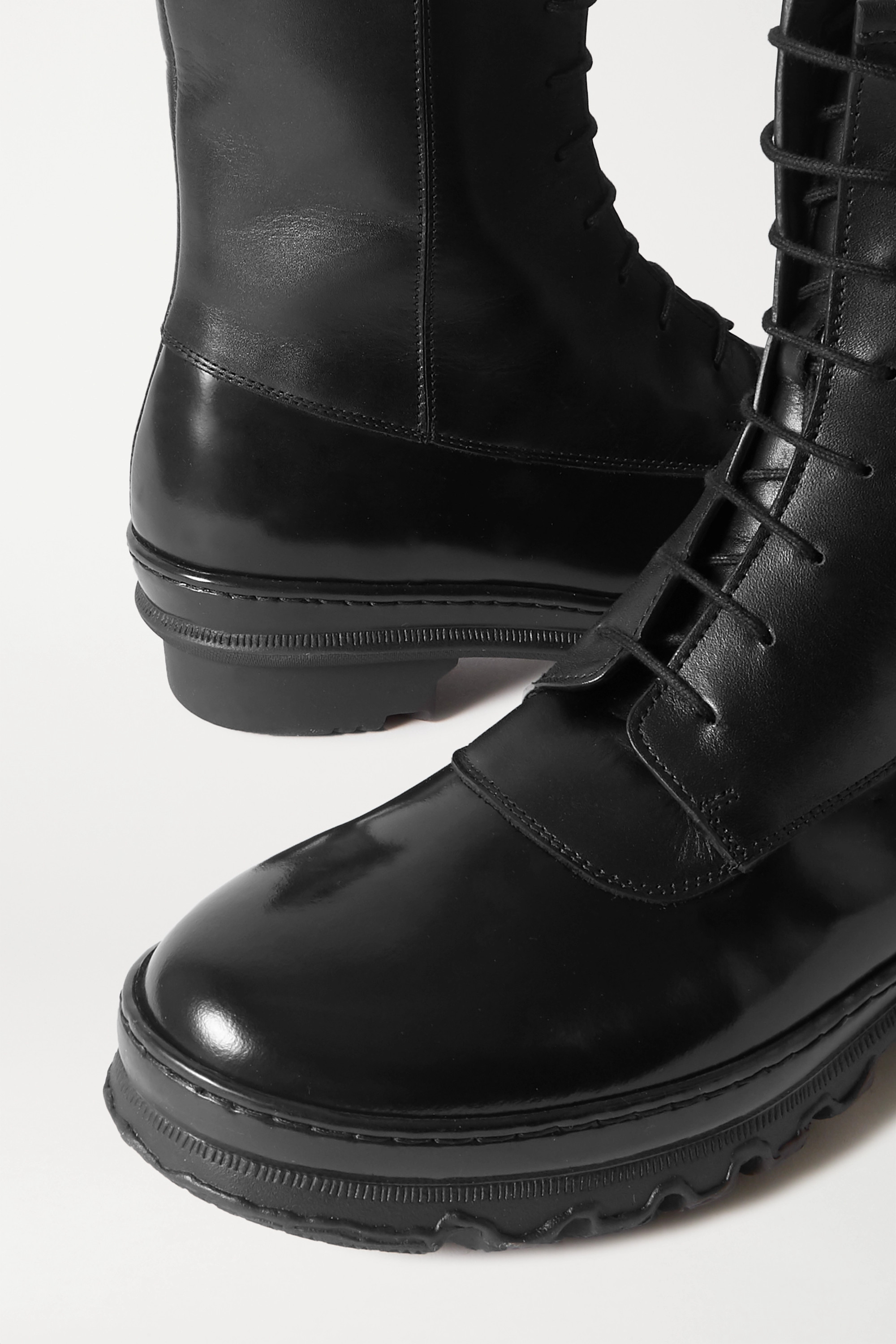 LEGRES 15 matte and patent-leather ankle boots