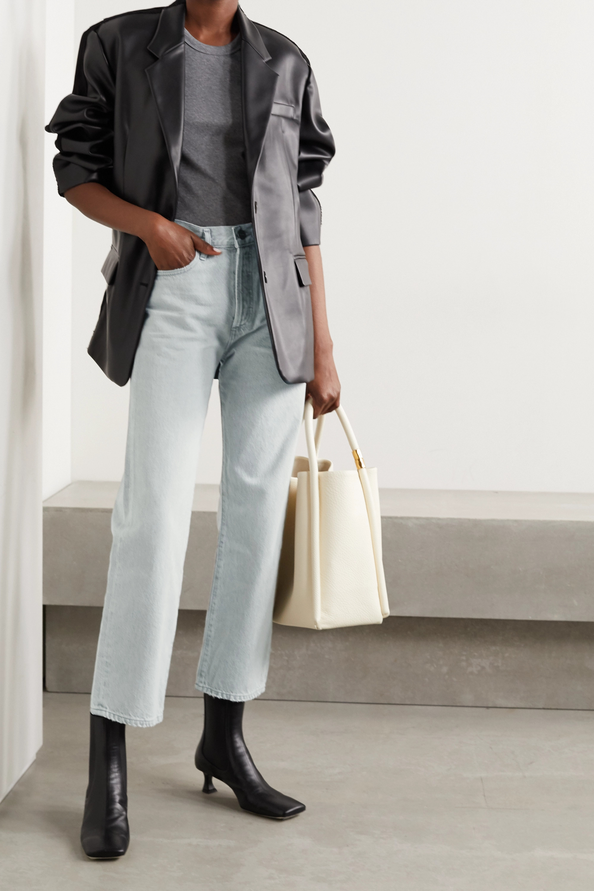 GOLDSIGN The Relaxed Straight organic high-rise jeans