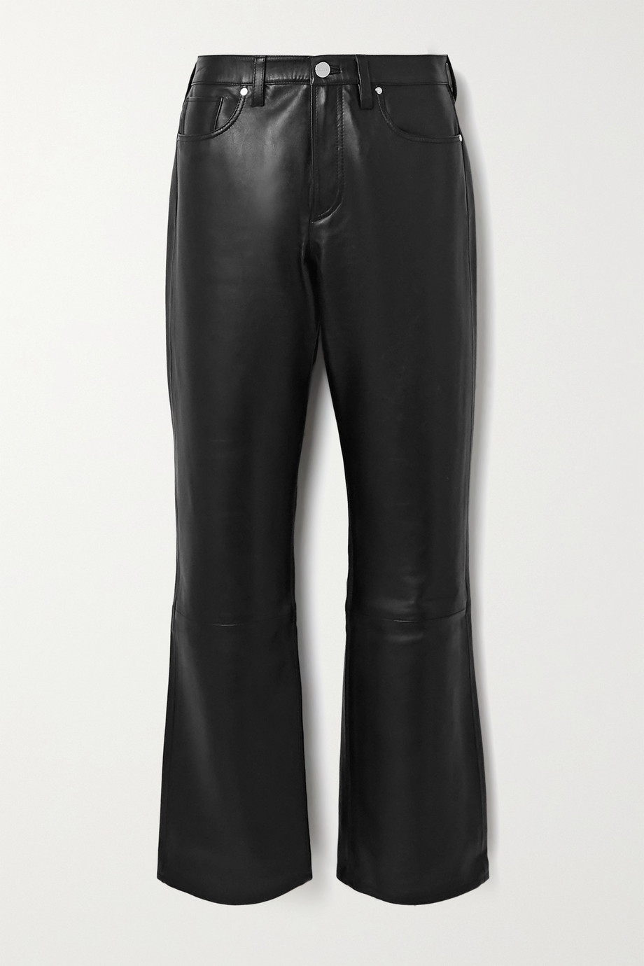 GOLDSIGN Nineties leather straight-leg pants
