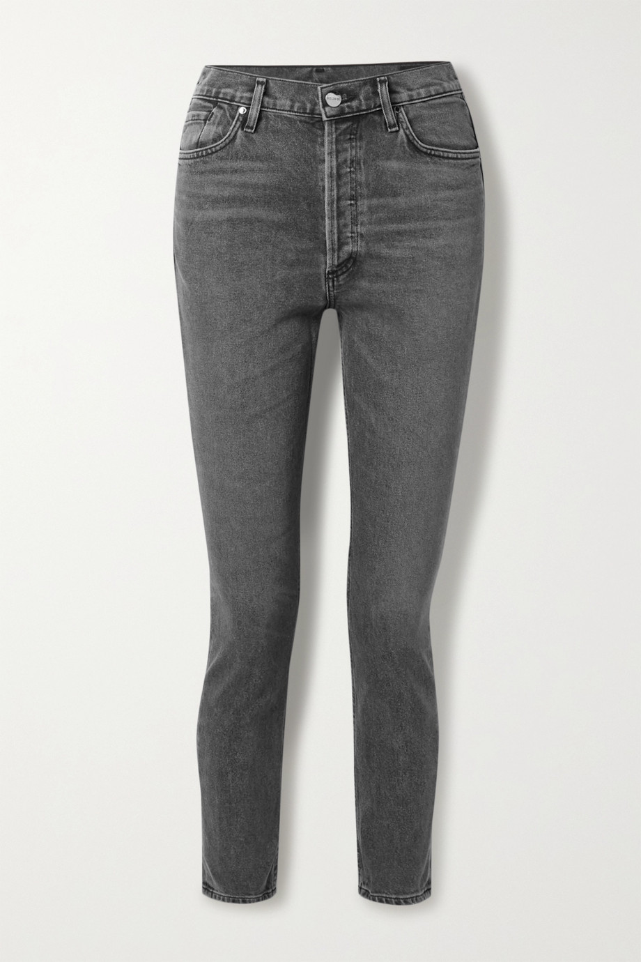 GOLDSIGN + NET SUSTAIN high-rise slim-leg jeans