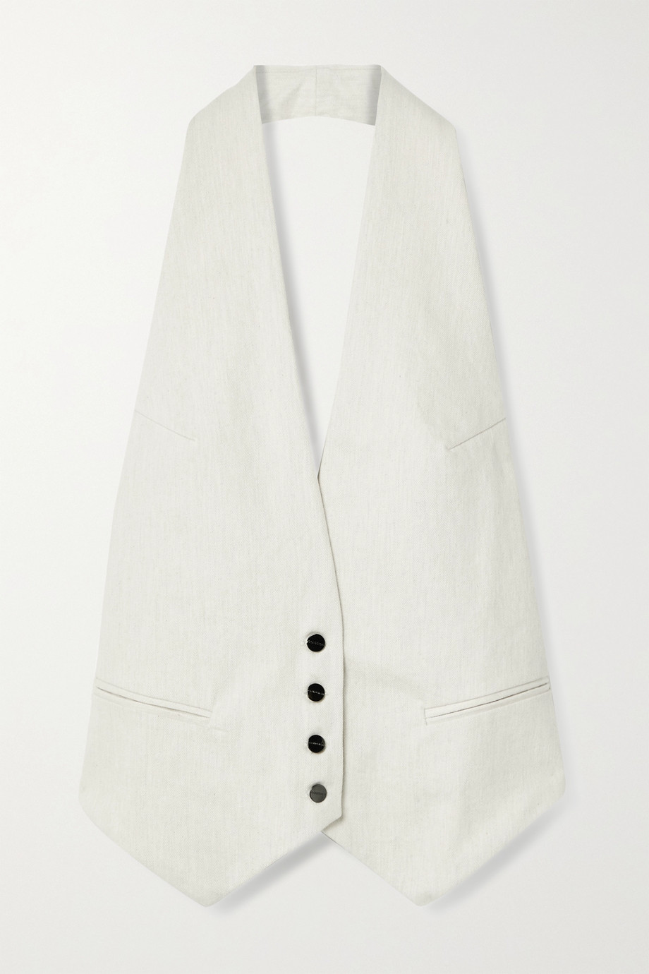 GOLDSIGN Open-back cotton-twill halterneck vest