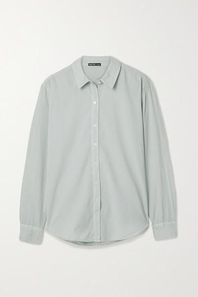 James Perse - Cotton-voile Shirt - Light gray