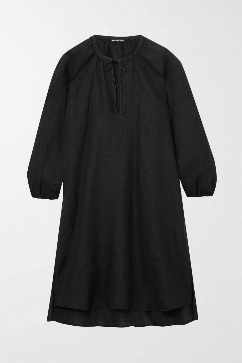 James Perse Tie-detailed linen mini dress