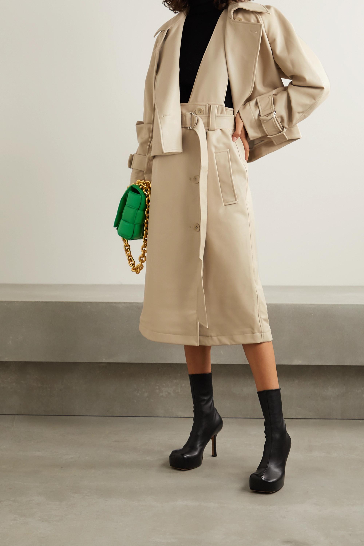 Tibi Convertible vegan leather trench coat