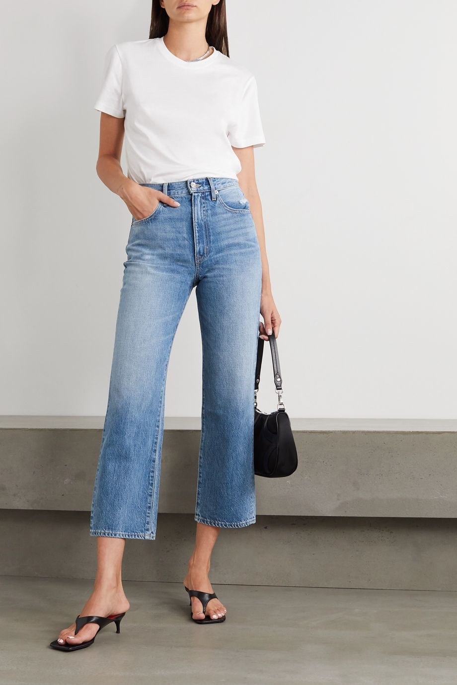 SLVRLAKE London cropped high-rise straight-leg jeans