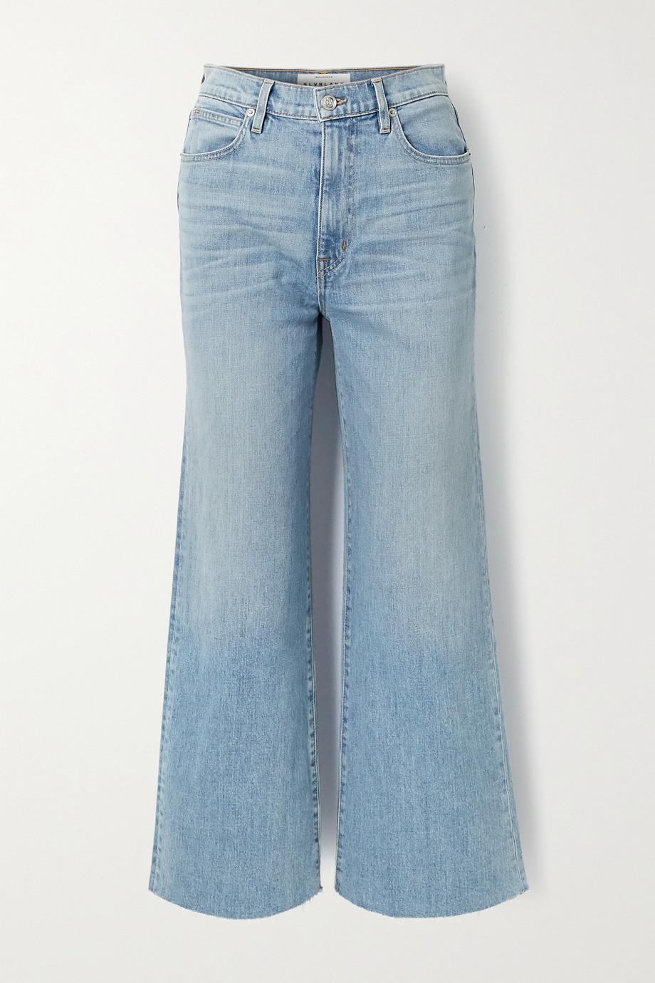 SLVRLAKE Grace verkürzte, hoch sitzende Jeans mit weitem Bein