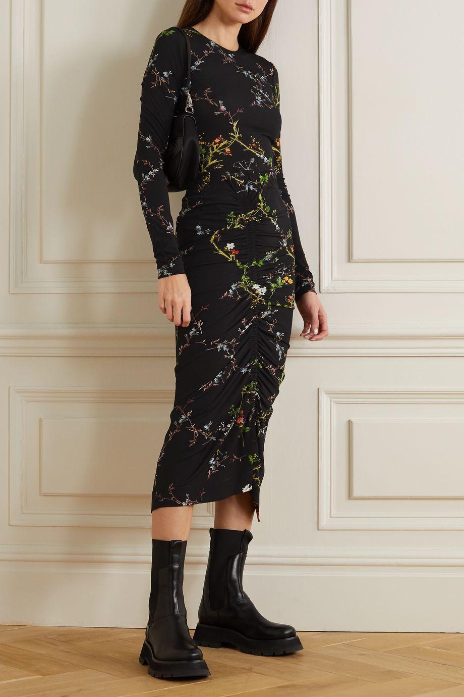 Preen by Thornton Bregazzi Nicole floral-print stretch-crepe top