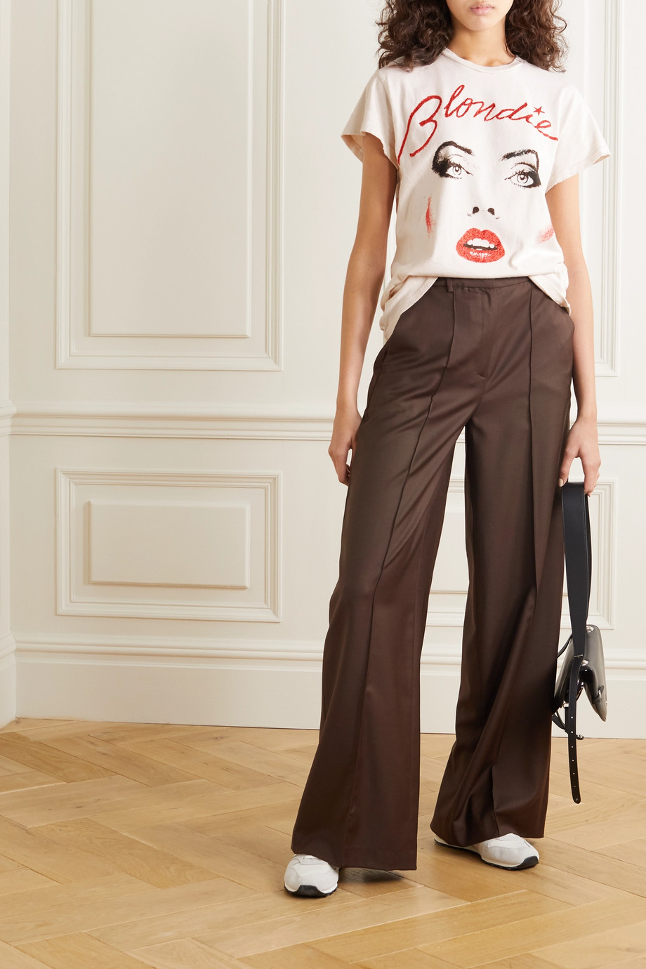 MadeWorn Blondie distressed glittered printed cotton-jersey T-shirt