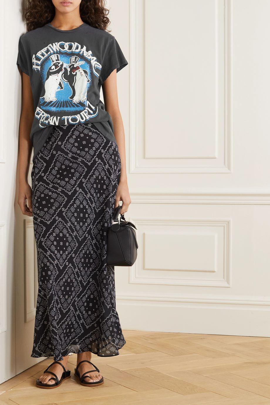 MadeWorn Fleetwood Mac distressed printed cotton-jersey T-shirt