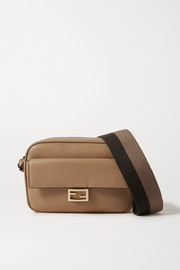 Fendi Baguette canvas-trimmed leather shoulder bag